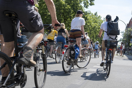 Fahrrad-Demonstration des ADFC in Berlin